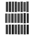 Black tyre tracks set vector