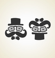 Businessman and baby monochrome logo vector