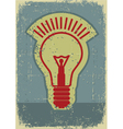 Idea lampgrunge symbol of light bulb on old paper vector