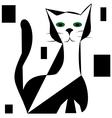 Black silhouette of cat vector