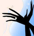 Two magic hands vector