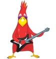 Funny parrot rock star vector