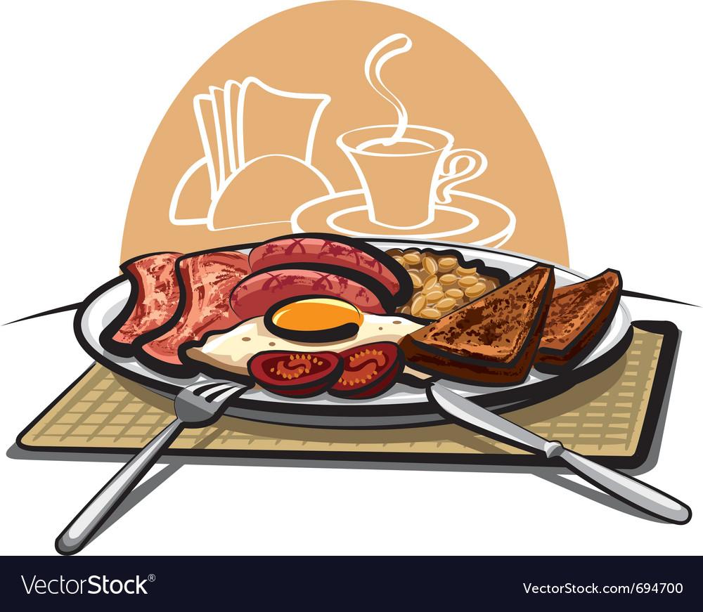 English breakfast vector | Price: 3 Credit (USD $3)