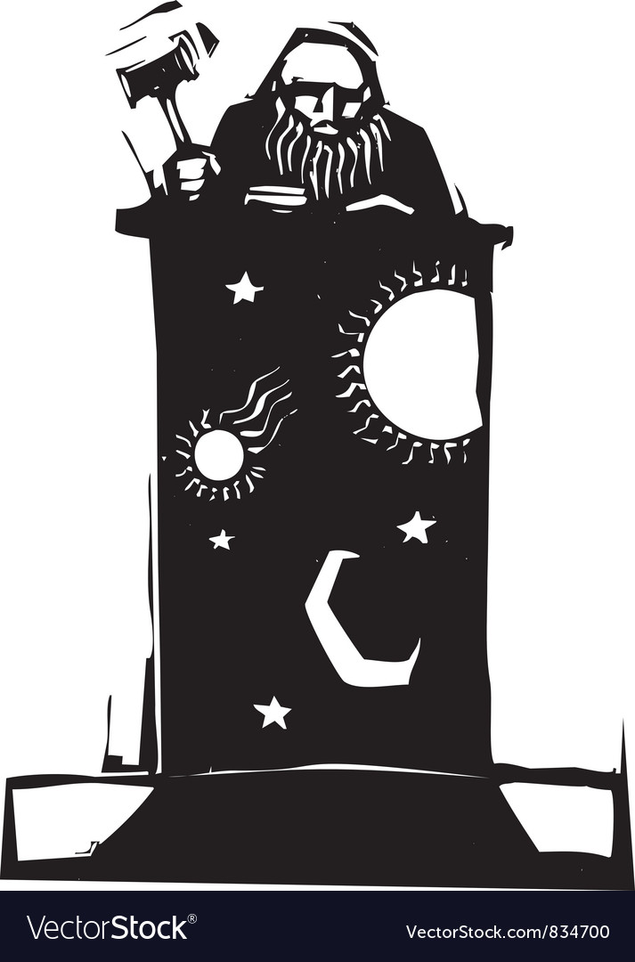Judge and night sky vector | Price: 1 Credit (USD $1)