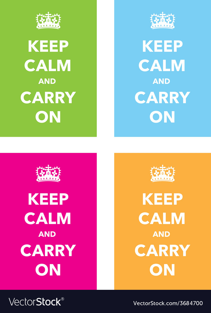 Keep calm signs set vector | Price: 1 Credit (USD $1)