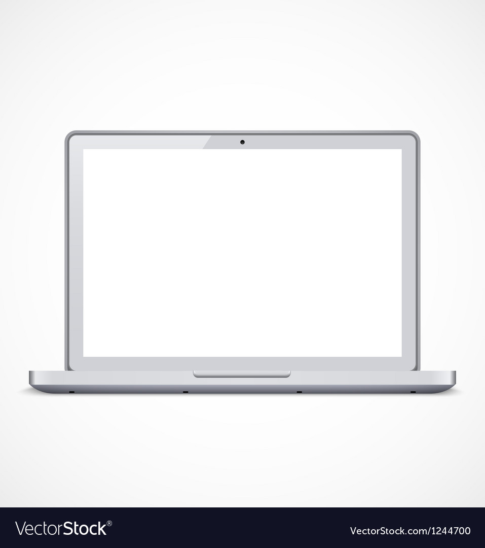 Laptop with white screen vector | Price: 1 Credit (USD $1)