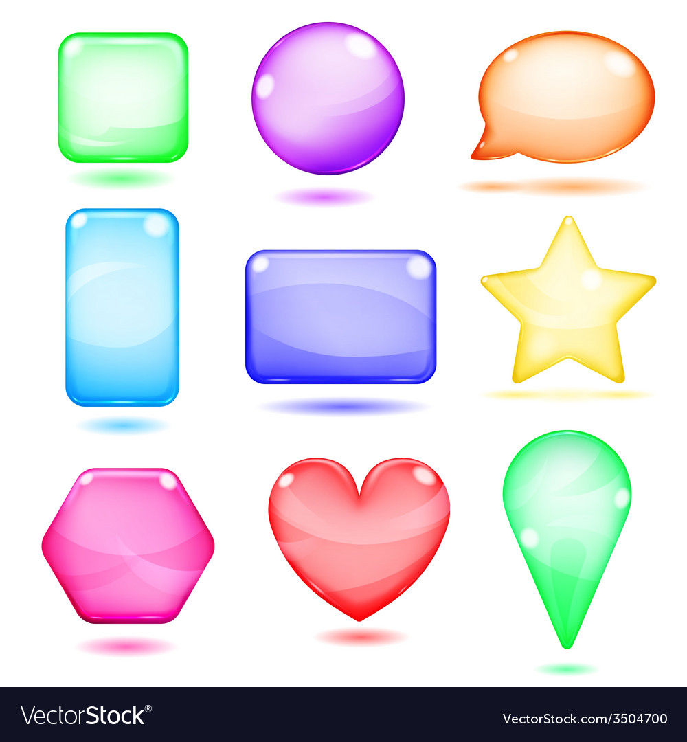 Opaque colored glass shapes vector | Price: 1 Credit (USD $1)