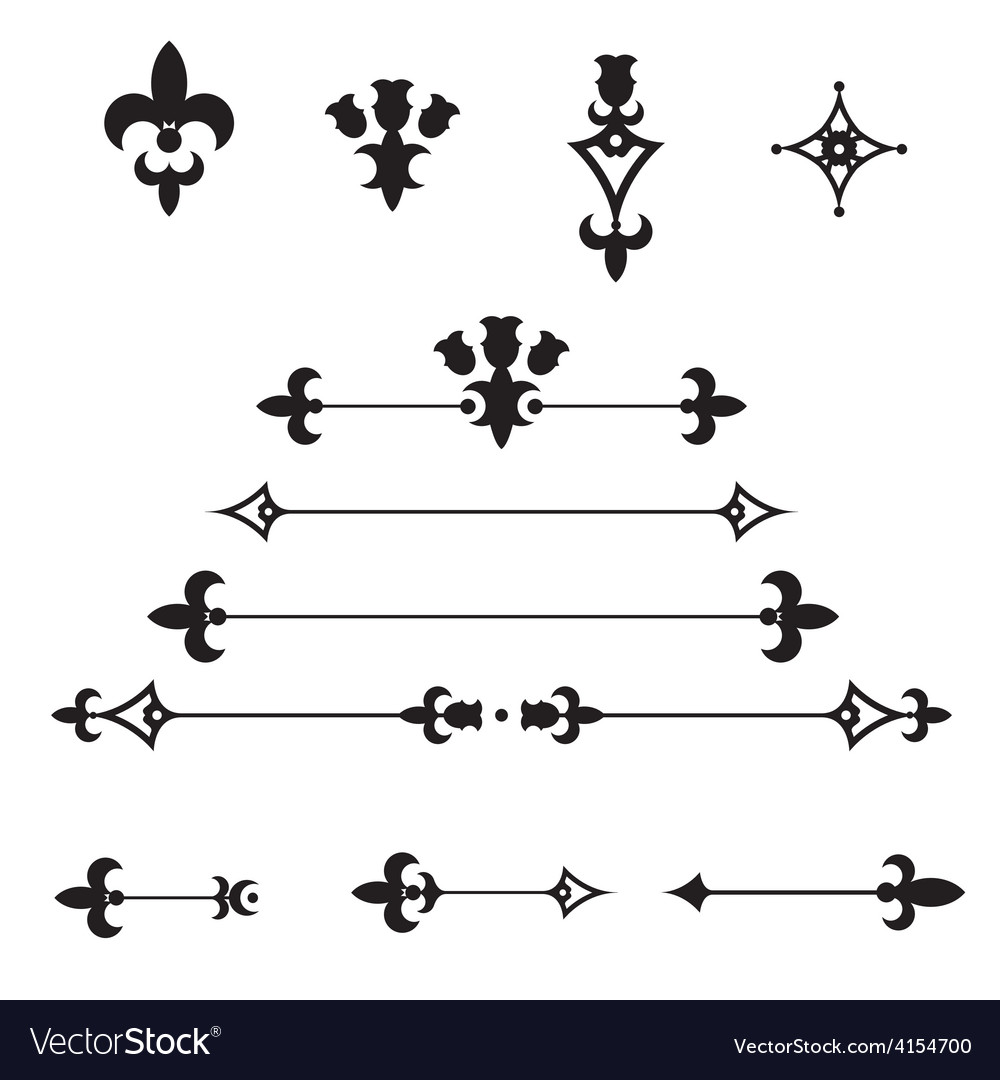 Ornate dividers vector | Price: 1 Credit (USD $1)