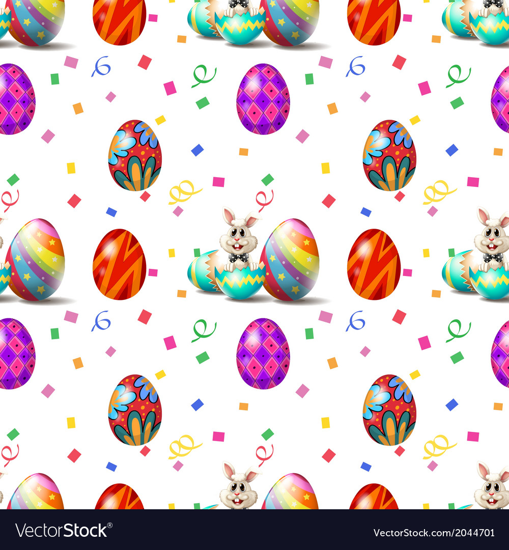 An easter sunday seamless design vector | Price: 1 Credit (USD $1)