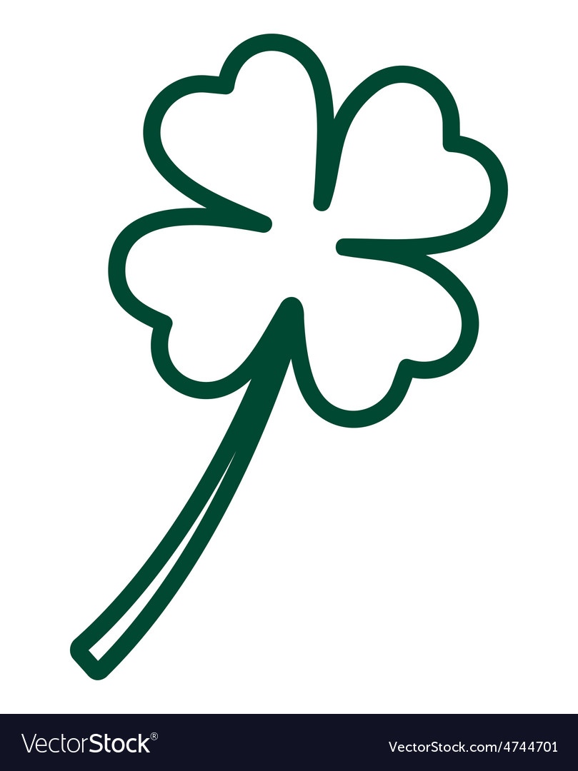 Clover line resize vector | Price: 1 Credit (USD $1)