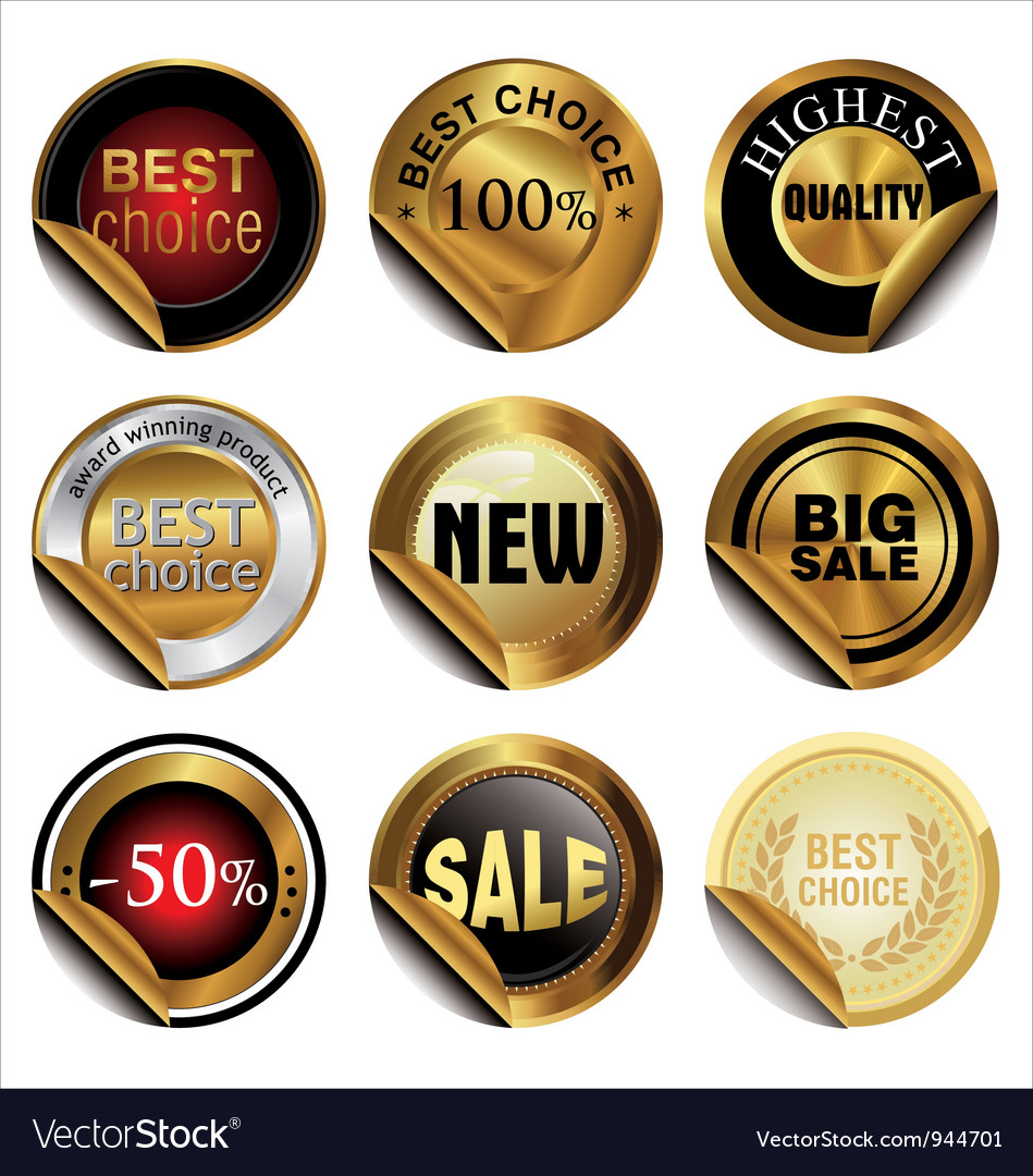 Collection of premium quality and guarantee labels vector   Price: 1 Credit (USD $1)