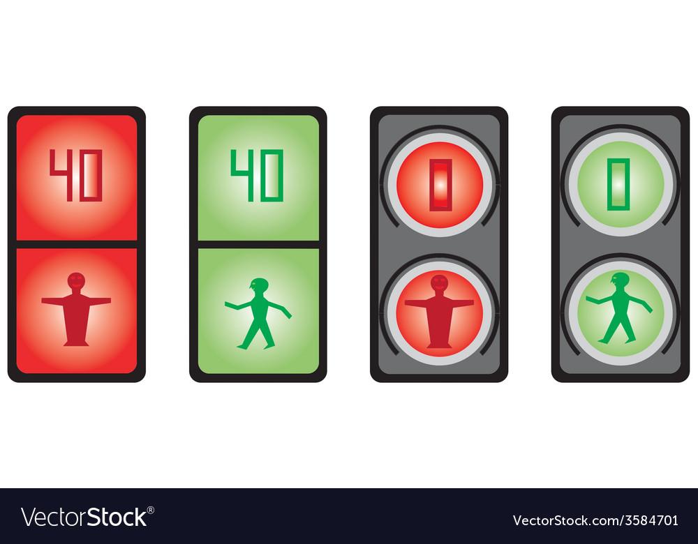 Foot traffic light vector | Price: 1 Credit (USD $1)