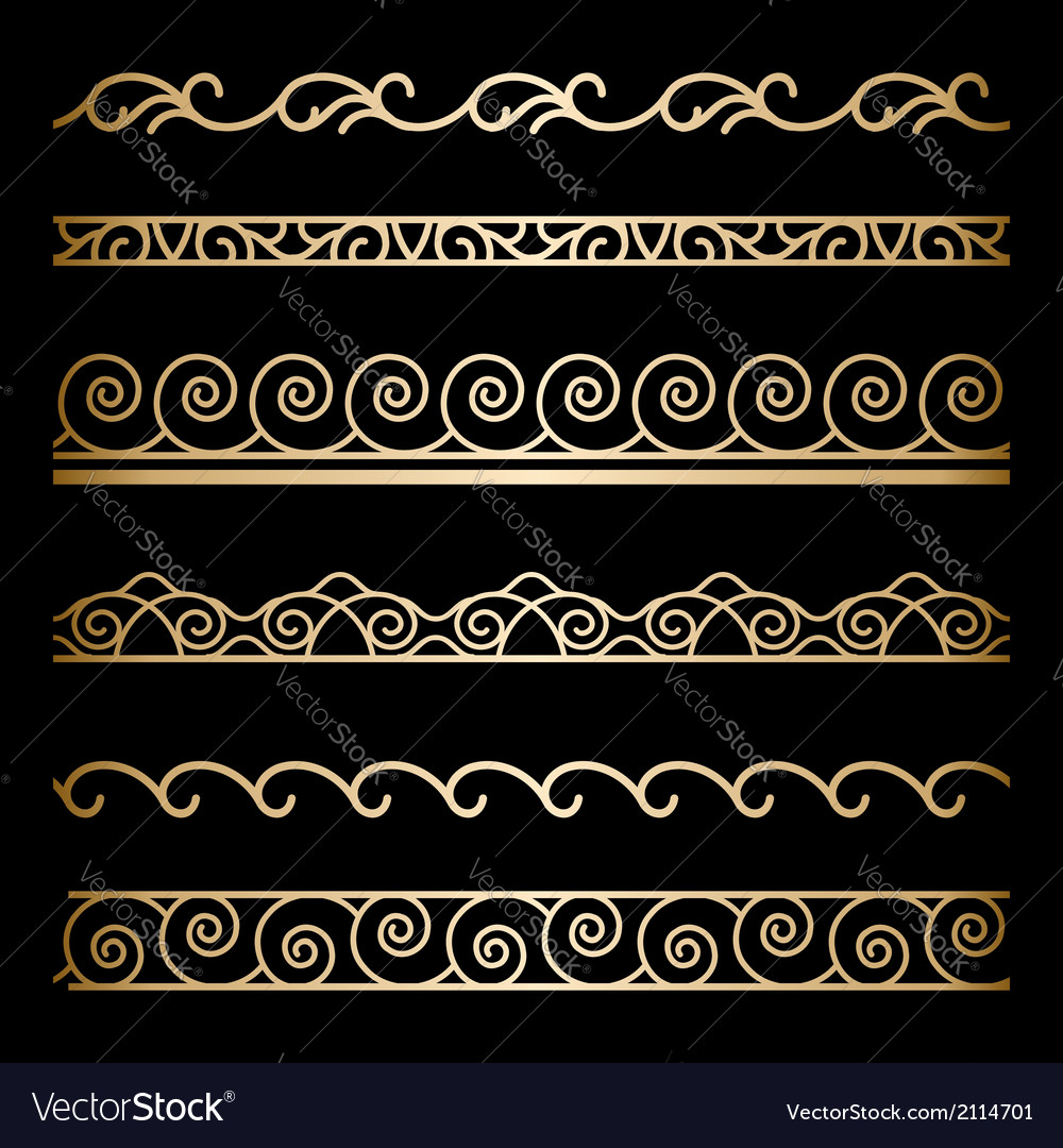 Gold borders vector | Price: 1 Credit (USD $1)