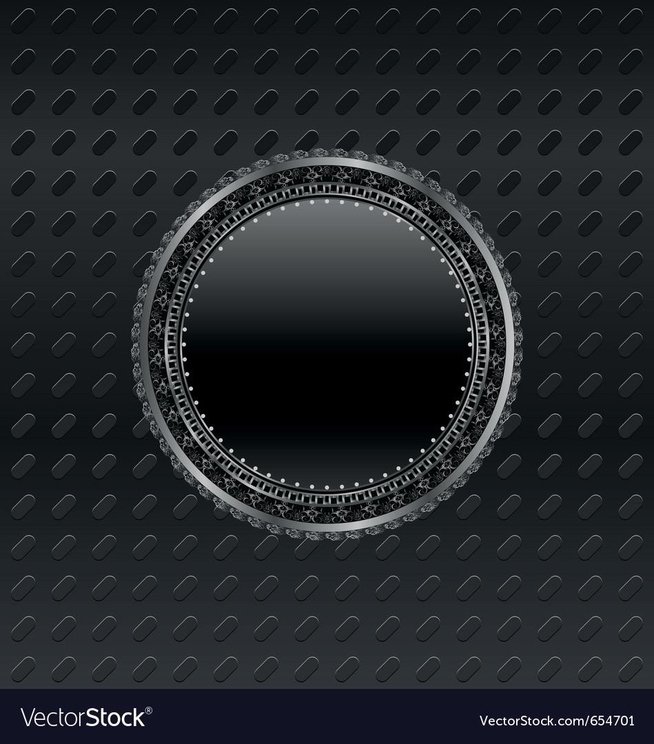 Heraldic circle shield on titanium background - vector | Price: 1 Credit (USD $1)