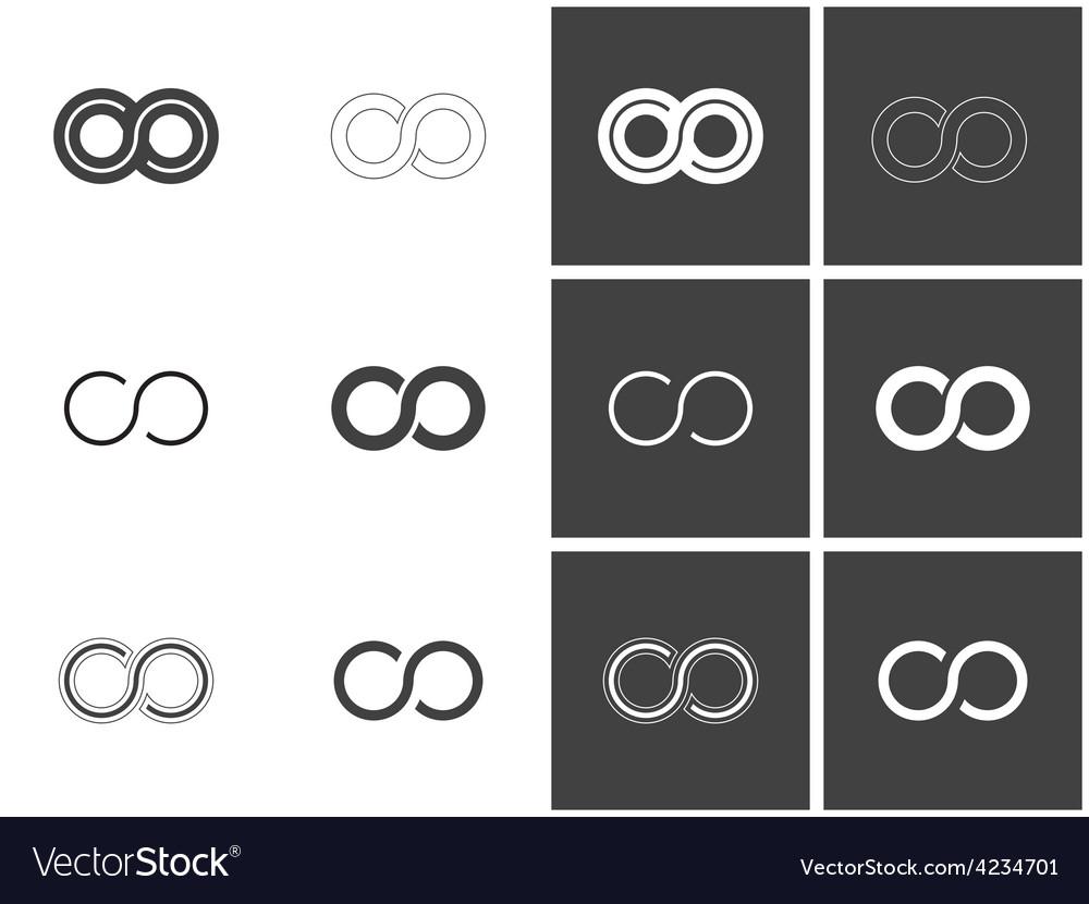 Infinity symbols in set vector