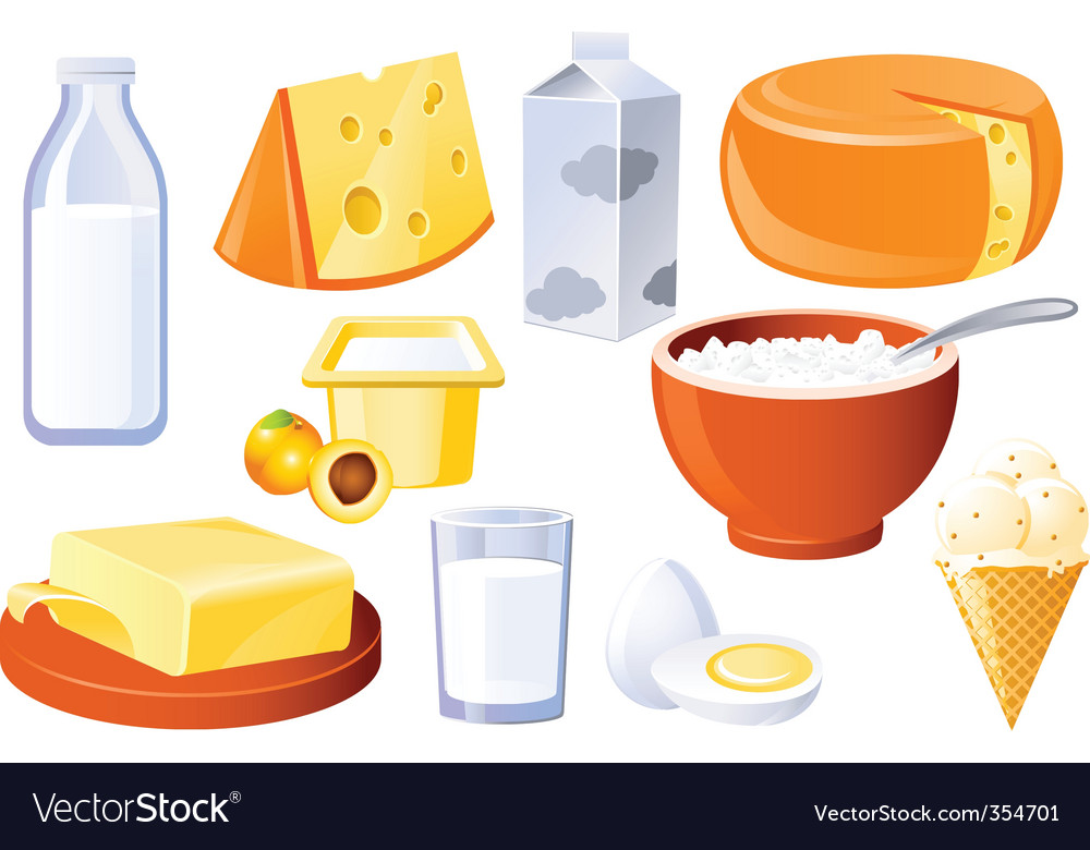 Milk and farm products vector | Price: 3 Credit (USD $3)