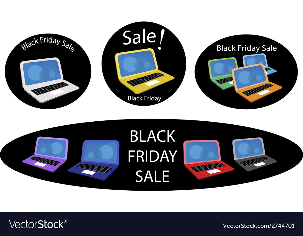 Mobile computer on black friday sale background vector | Price: 1 Credit (USD $1)