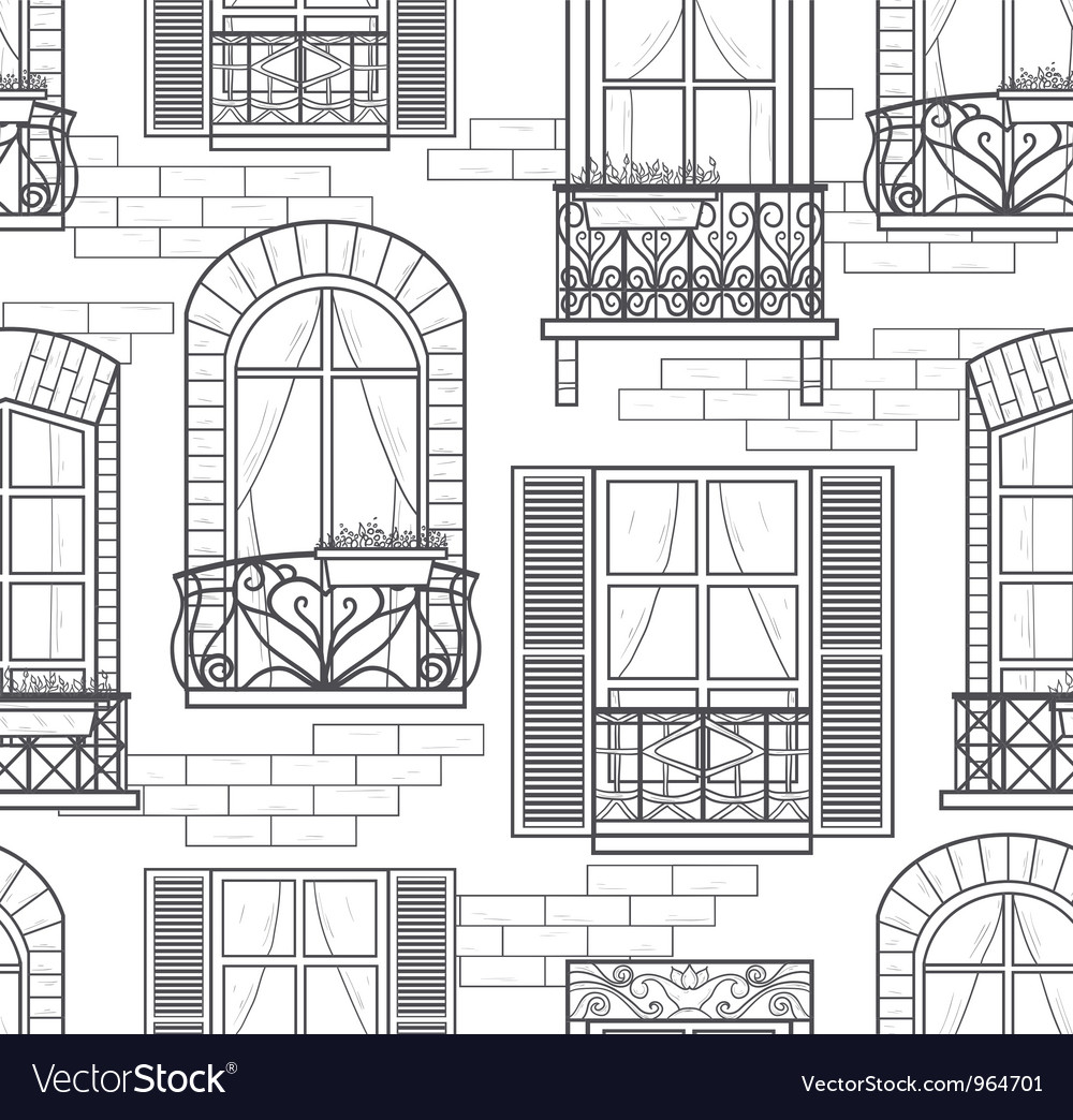 Seamless windows pattern vector | Price: 1 Credit (USD $1)