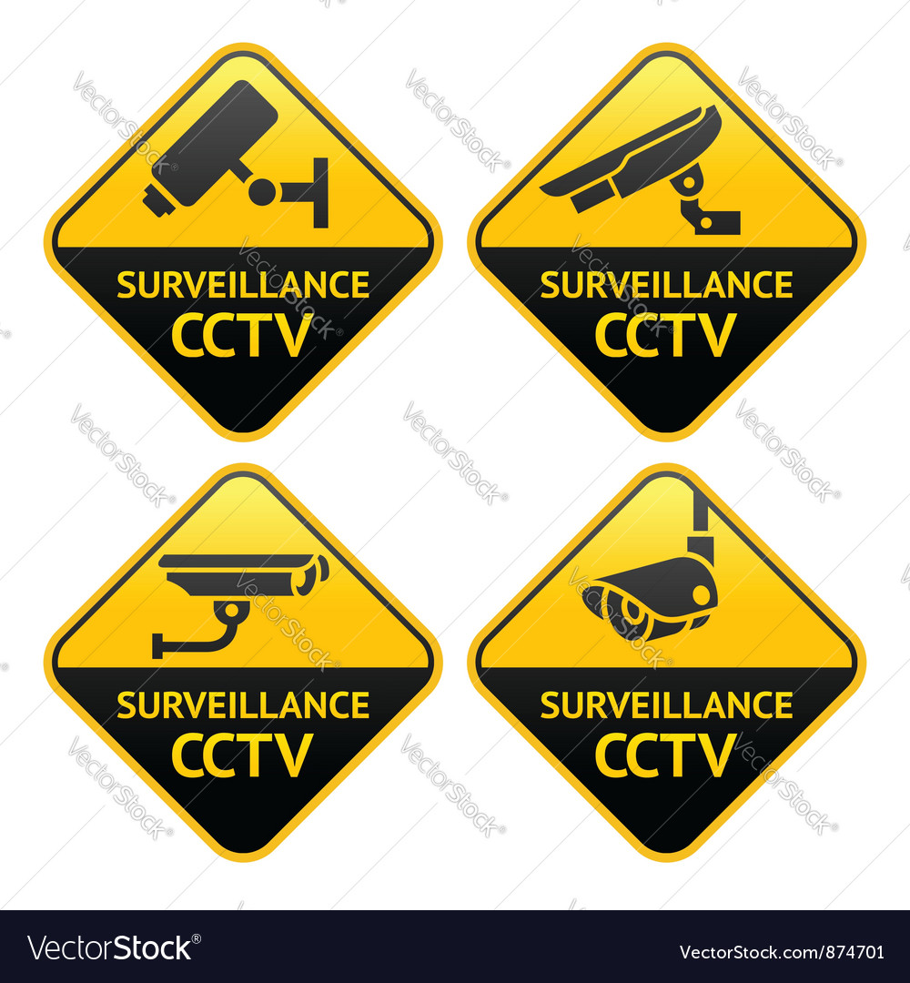 Security camera pictogram video surveillance set vector | Price: 1 Credit (USD $1)