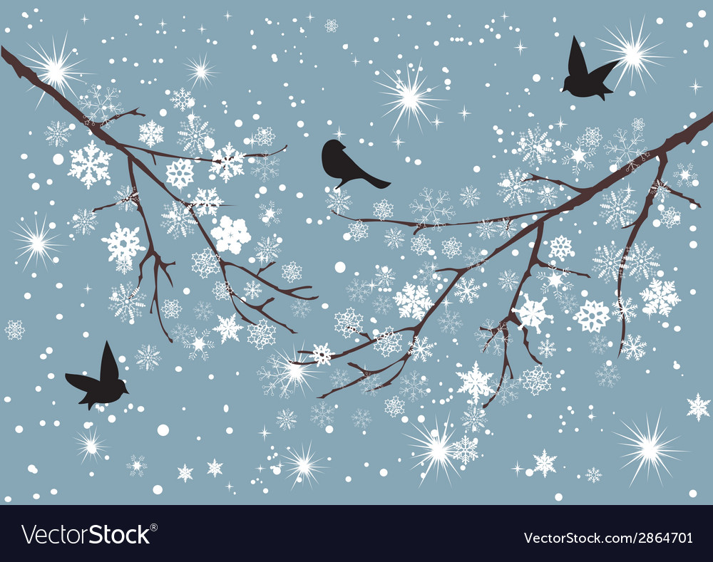 Snow birds vector | Price: 1 Credit (USD $1)
