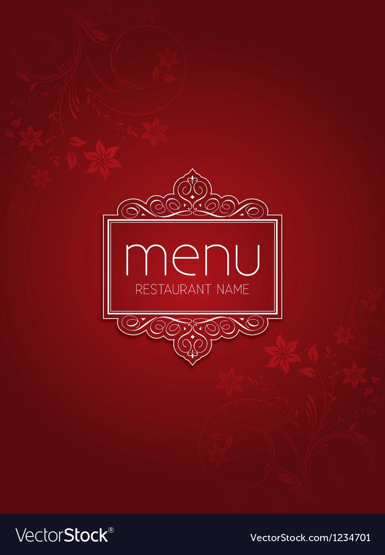 Stylish menu design vector