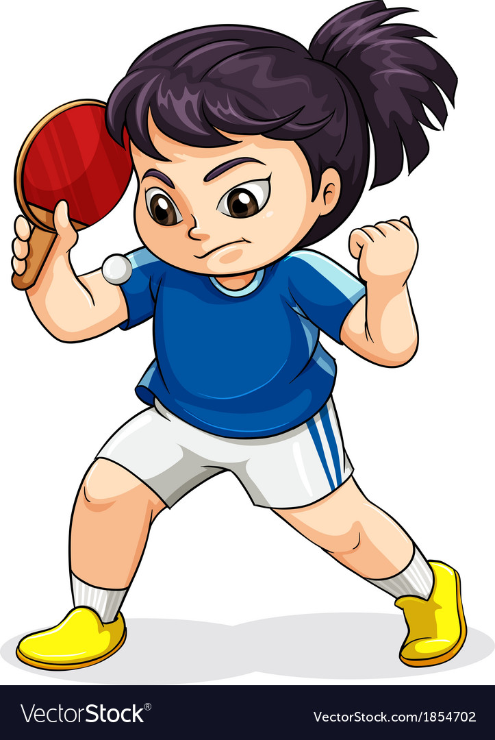 A female asian playing tabletennis vector | Price: 1 Credit (USD $1)