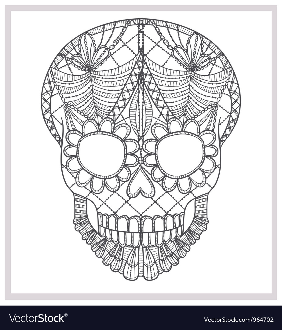 Abstract skull lace ornament vector | Price: 1 Credit (USD $1)