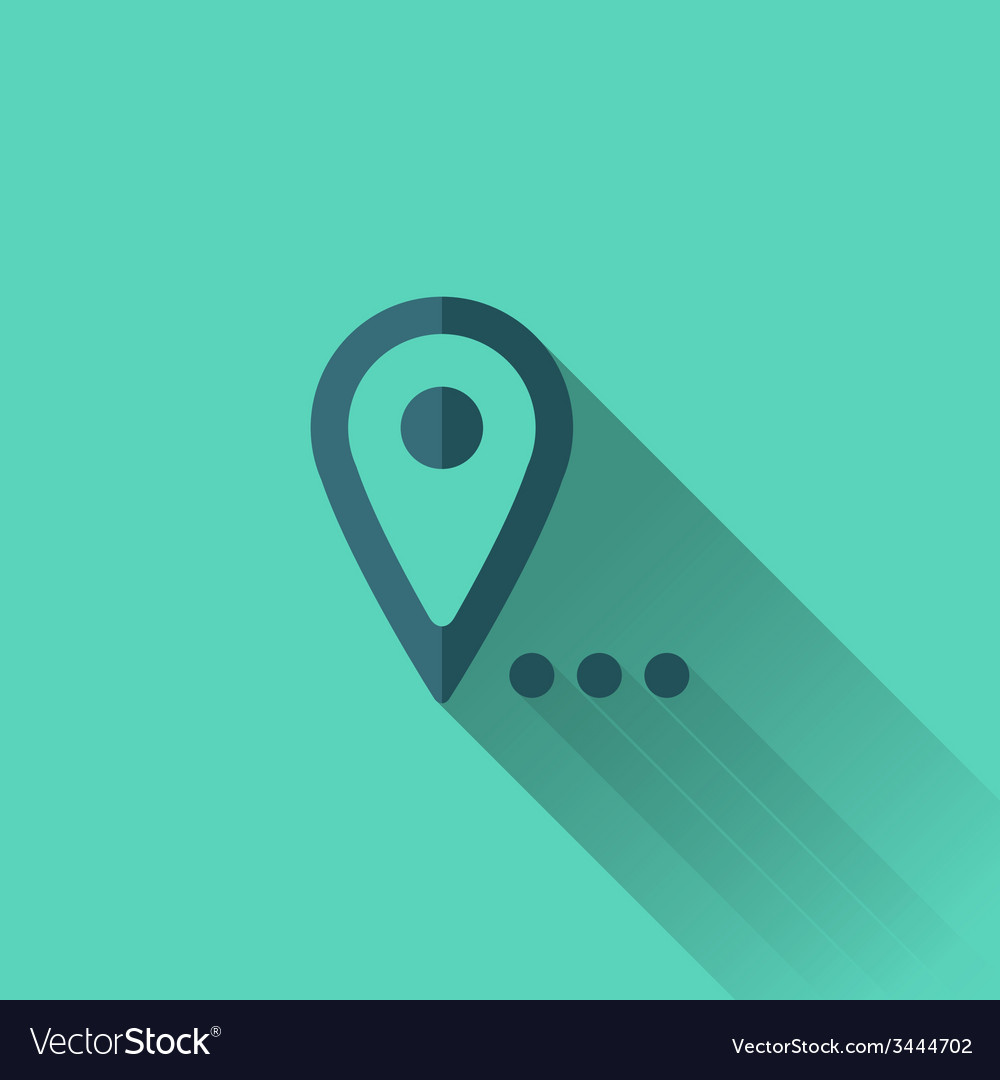 Blue map pointer icon flat design vector | Price: 1 Credit (USD $1)