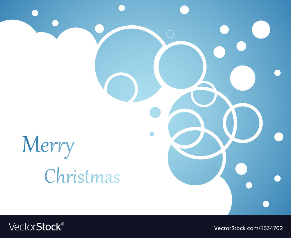 Christmas background snow flakes on blue vector | Price: 1 Credit (USD $1)