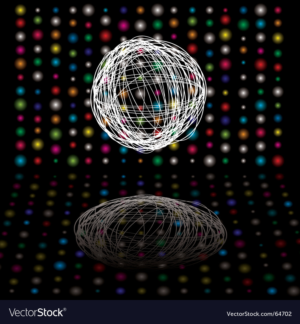 Disco scribble vector