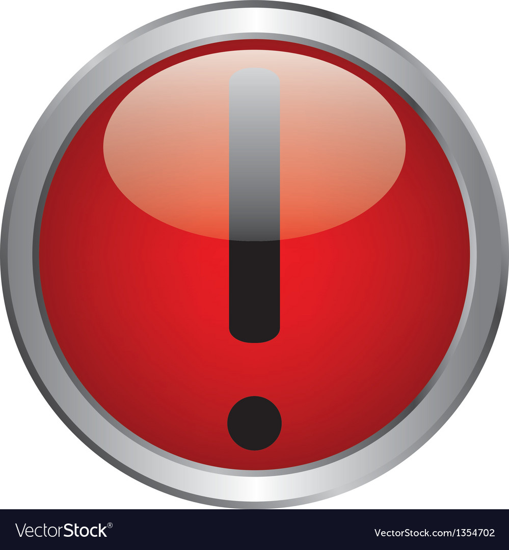 Exclamation danger sign vector | Price: 1 Credit (USD $1)