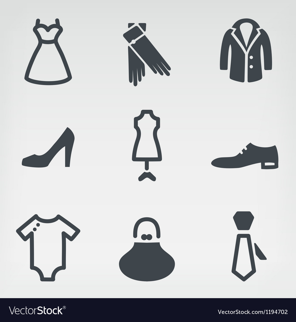 Fashion icon set vector | Price: 1 Credit (USD $1)