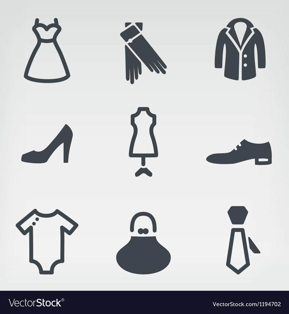 Fashion icon set vector | Price: 1 Credit (USD $1)