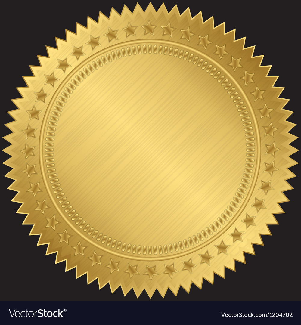 Golden sticker labels vector | Price: 1 Credit (USD $1)