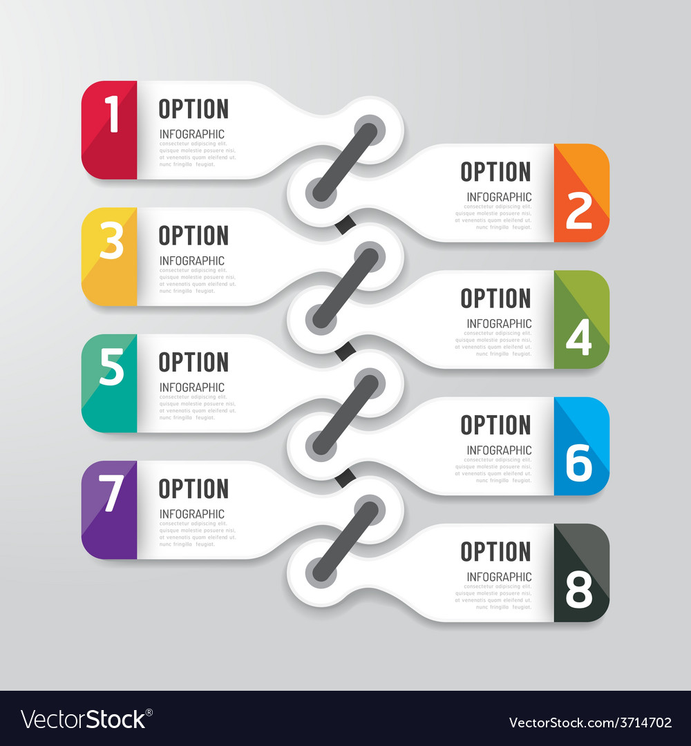 Modern infographics design options banner vector | Price: 1 Credit (USD $1)