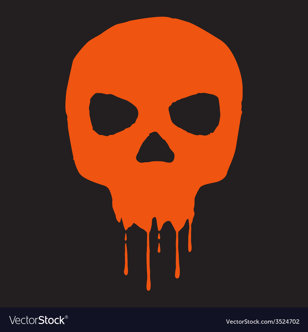 Skull with blood vector | Price: 1 Credit (USD $1)