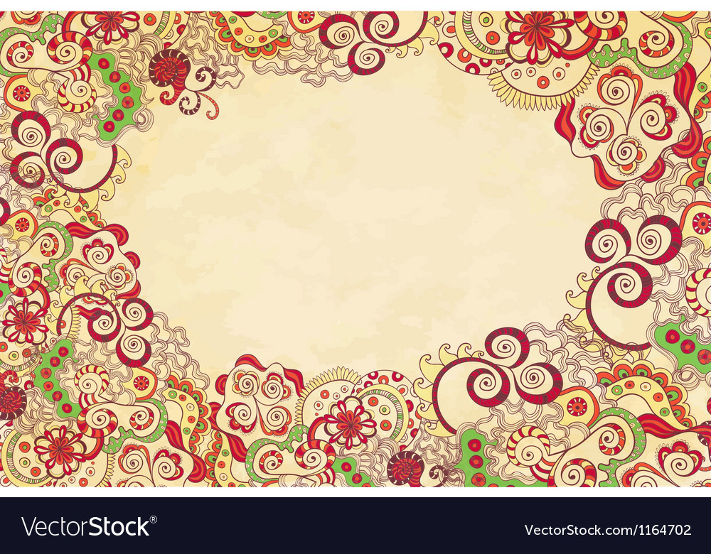 Stylised floral ornament invitation background vector | Price: 1 Credit (USD $1)