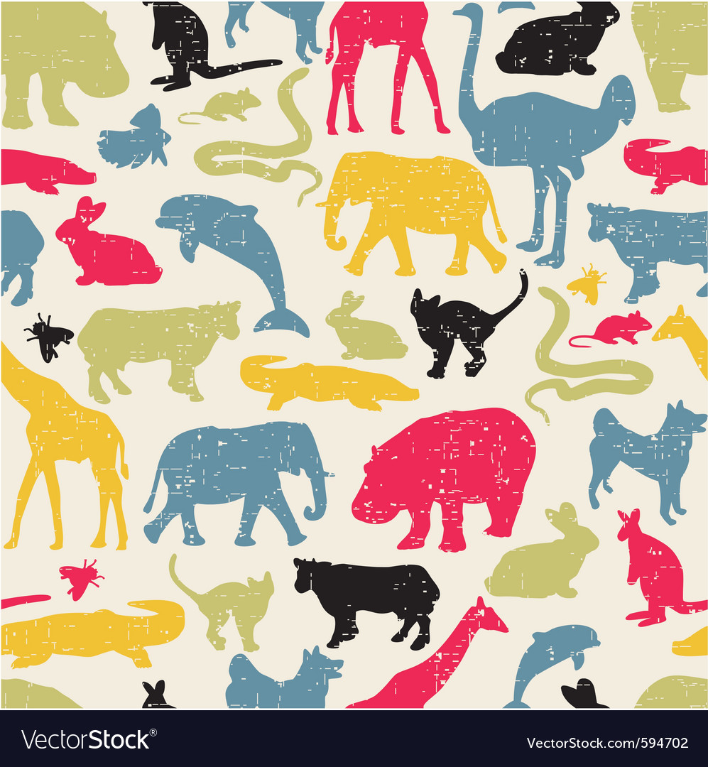 Wildlife seamless vector | Price: 1 Credit (USD $1)