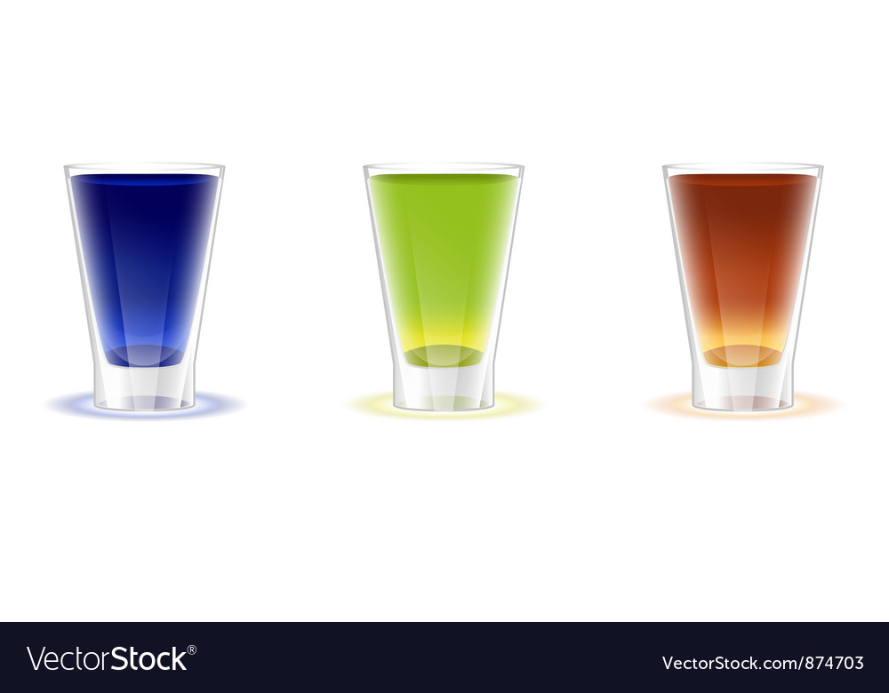 Alcohol shots drinks vector | Price: 1 Credit (USD $1)