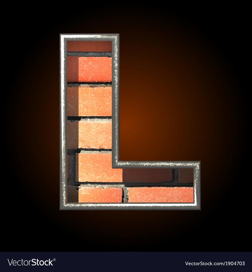 Brick cutted figure l vector | Price: 1 Credit (USD $1)