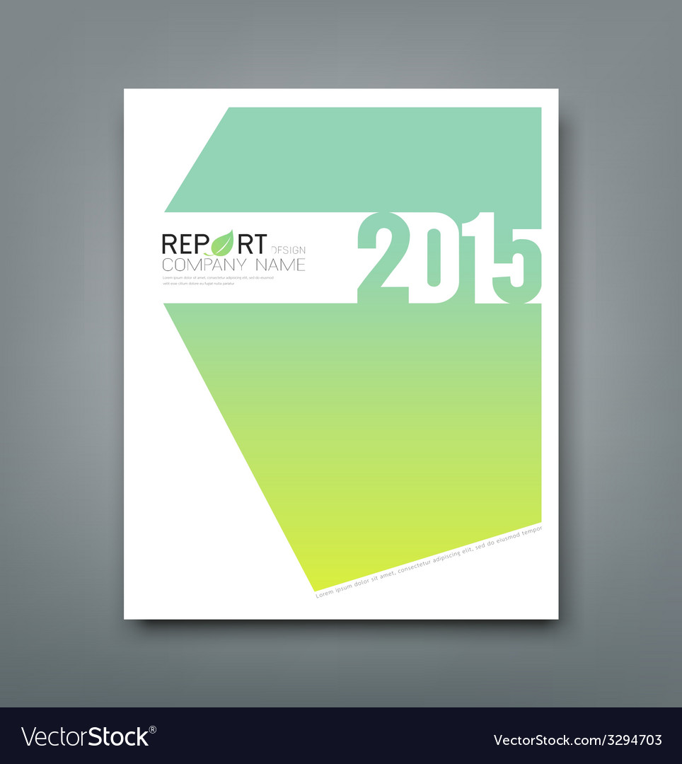 Cover report number 2015 and eco green background vector | Price: 1 Credit (USD $1)