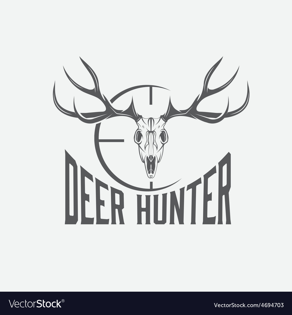 Deer skull with target design template vector | Price: 1 Credit (USD $1)