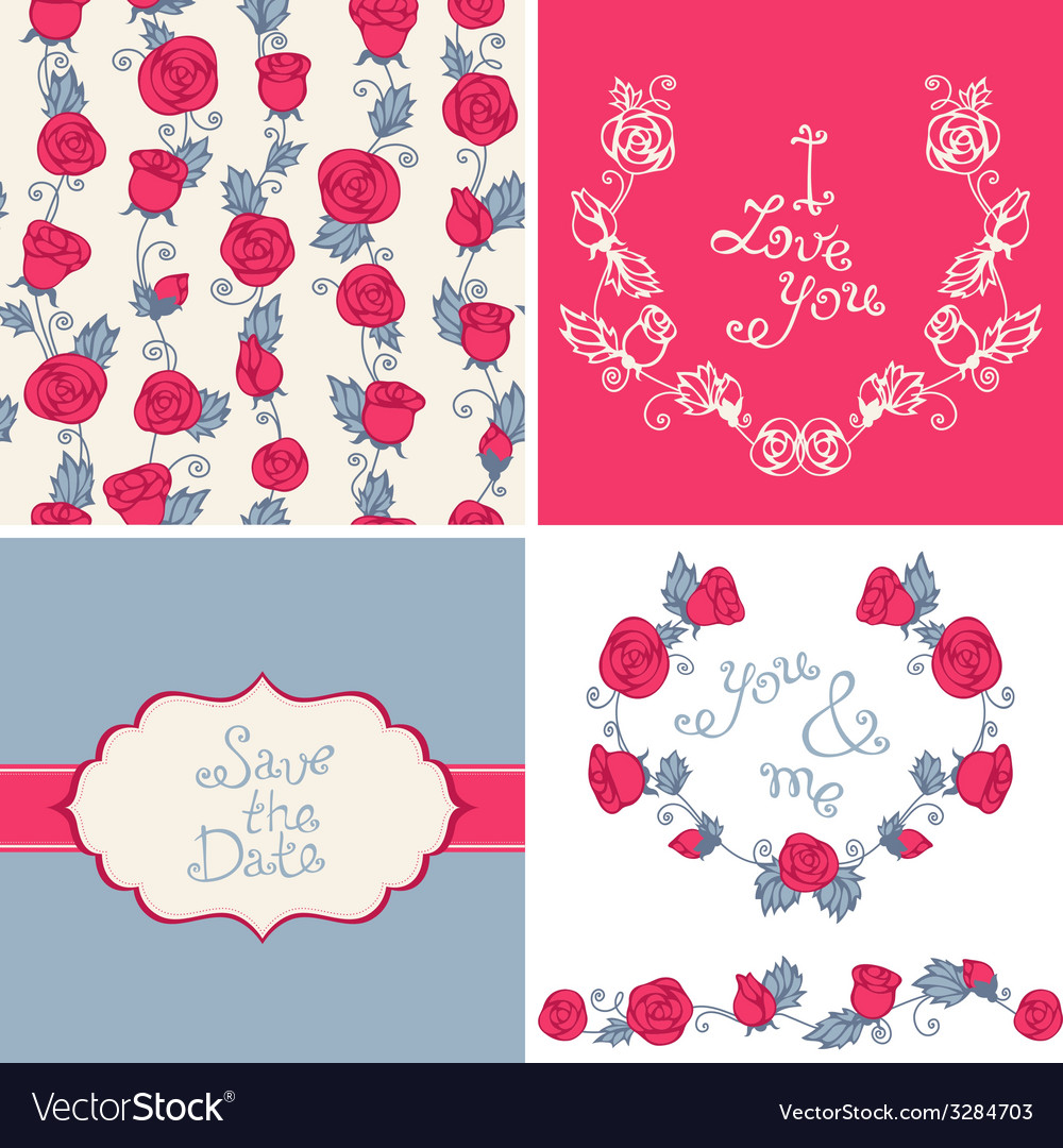 Design elements for romantic design vector | Price: 1 Credit (USD $1)