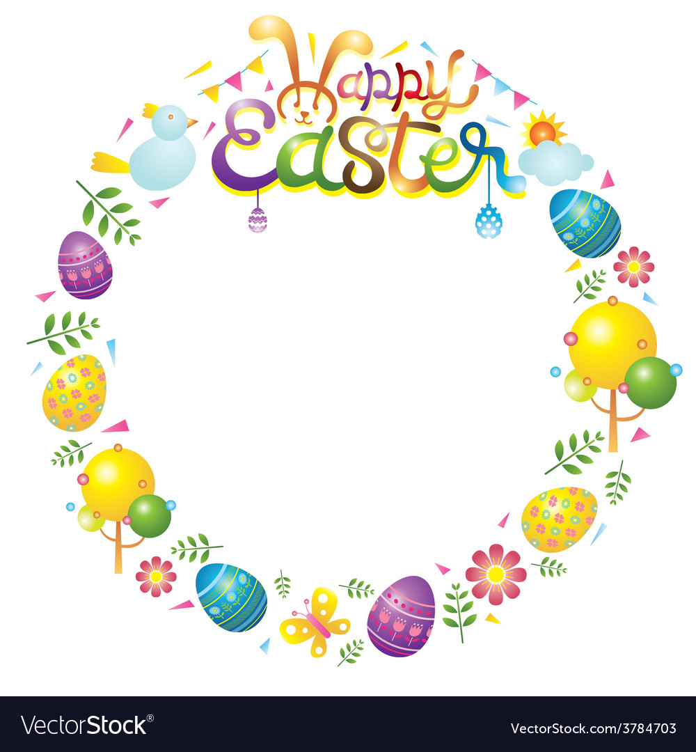 Easter icons wreath vector | Price: 1 Credit (USD $1)