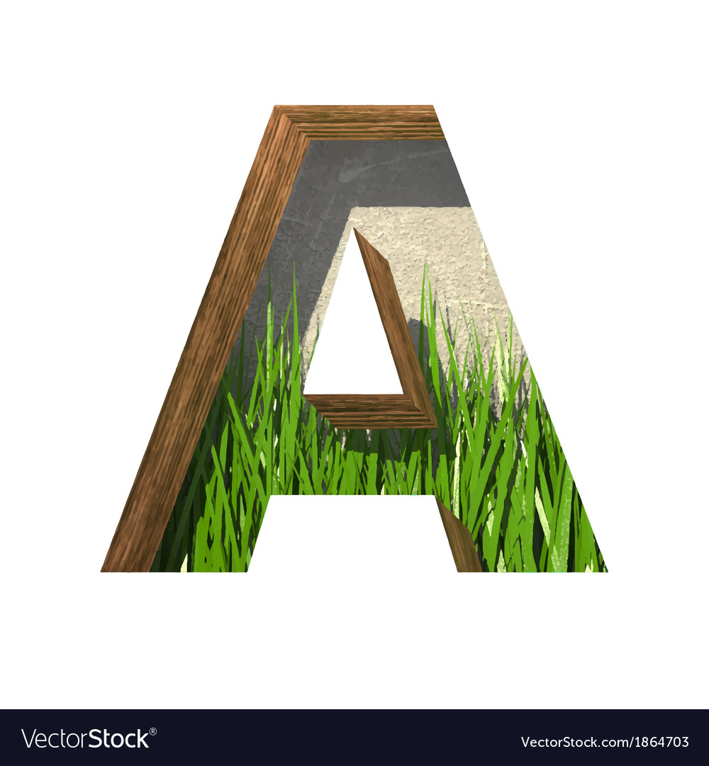 Grass cutted figure a paste to any background vector | Price: 1 Credit (USD $1)