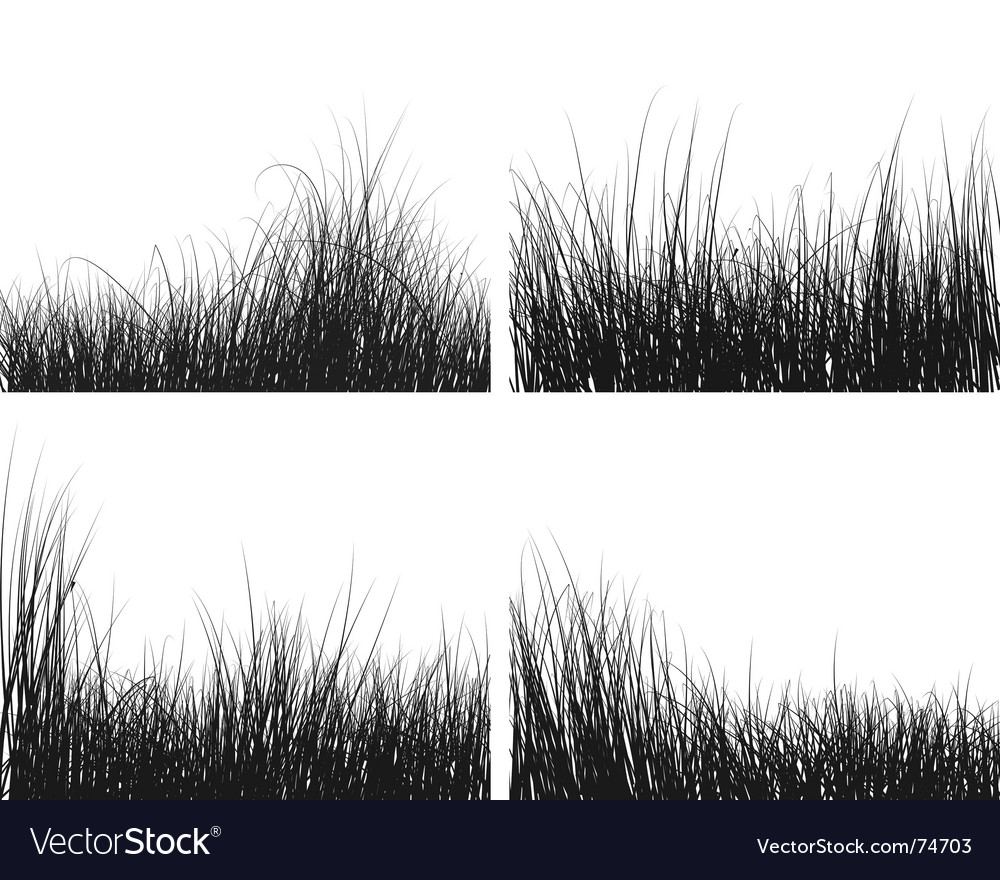 Grass silhouettes set vector | Price: 1 Credit (USD $1)