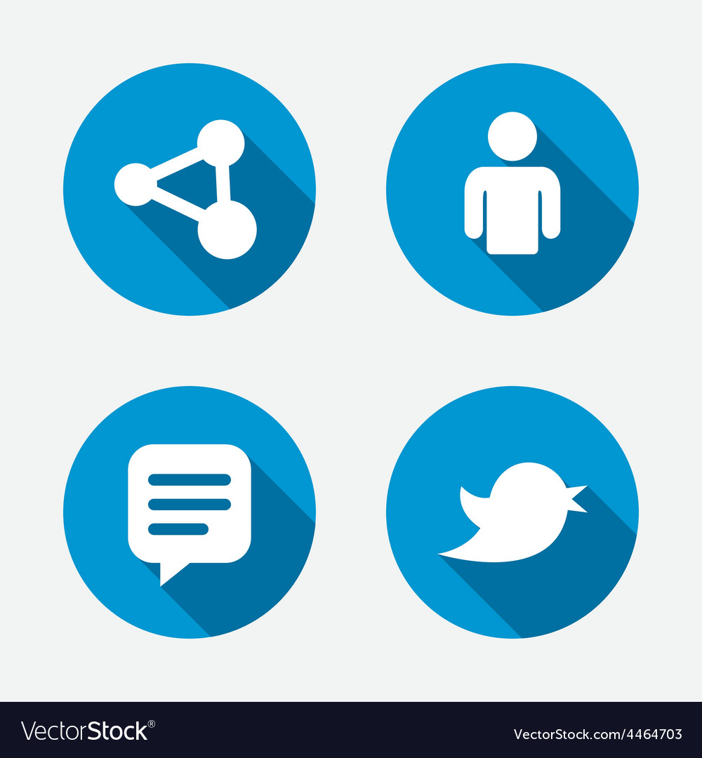 Human person and share icons speech bubble vector | Price: 1 Credit (USD $1)