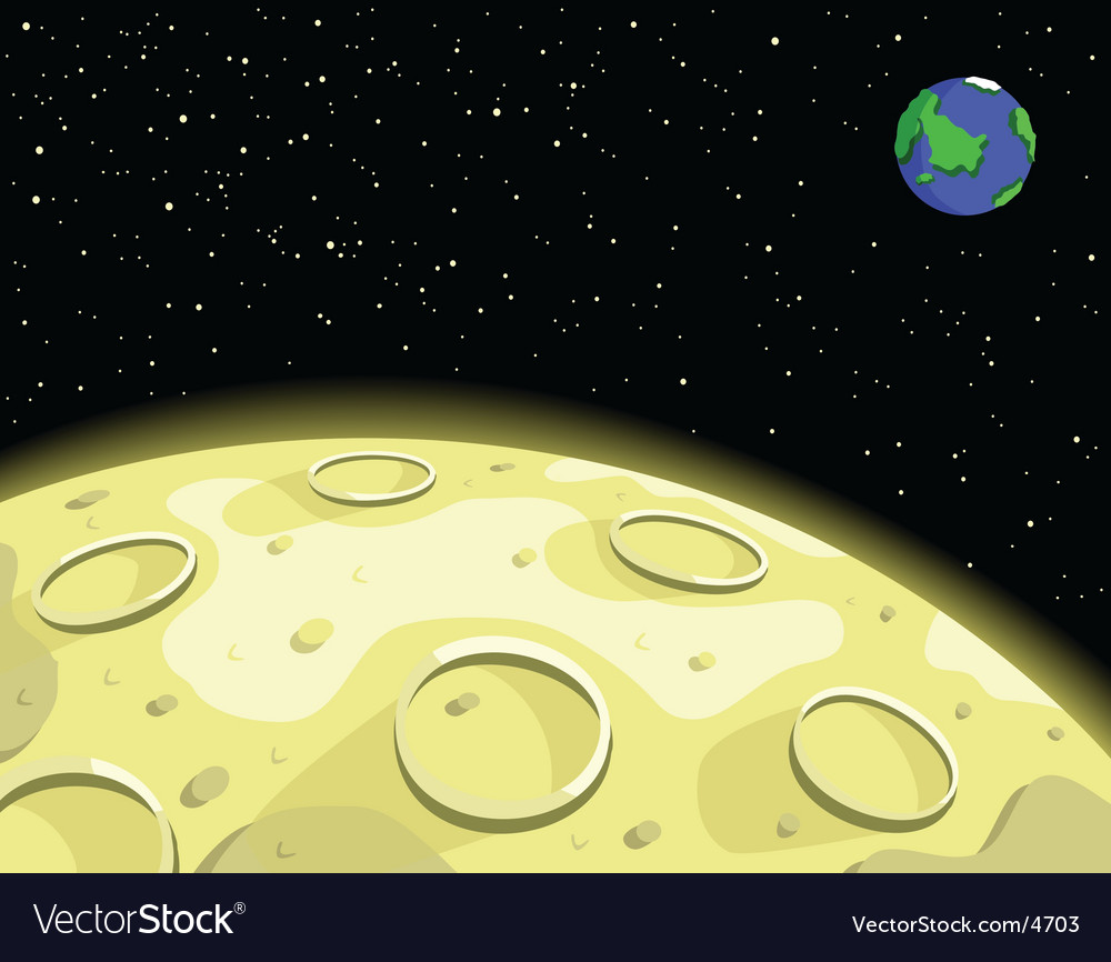 Lunar moon vector | Price: 1 Credit (USD $1)