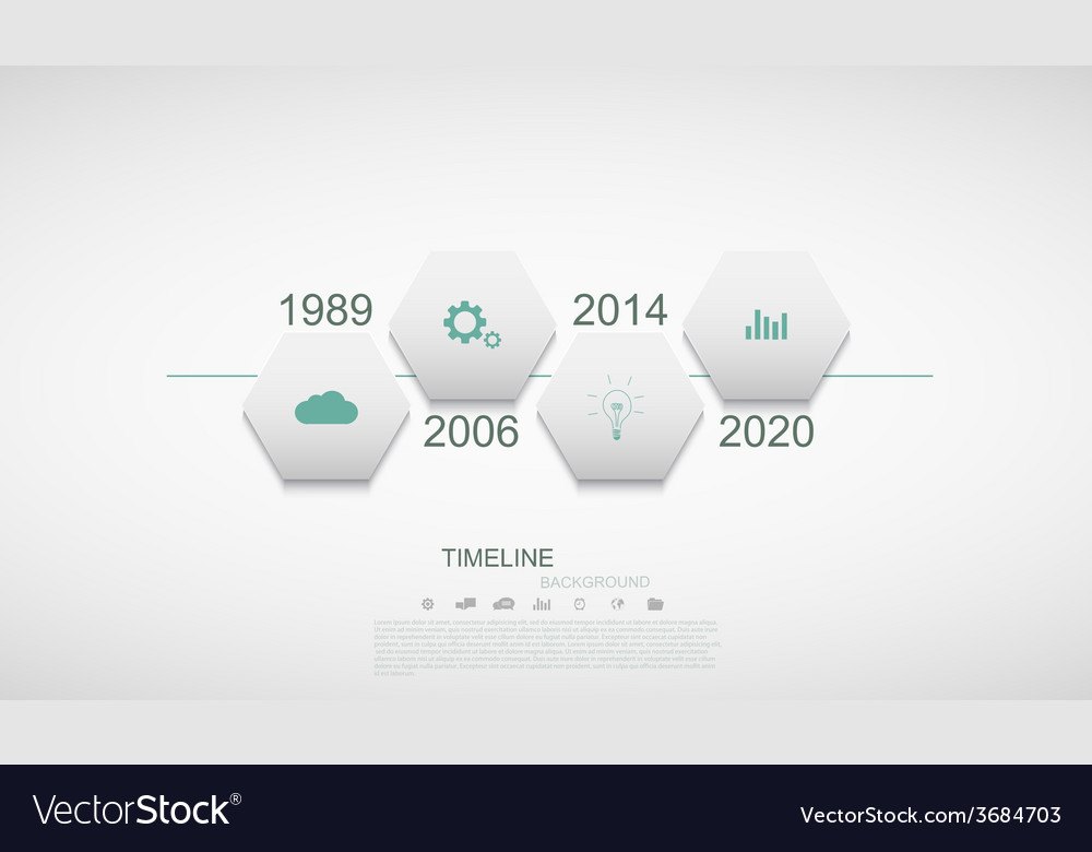 Modern timeline infographic vector   Price: 1 Credit (USD $1)