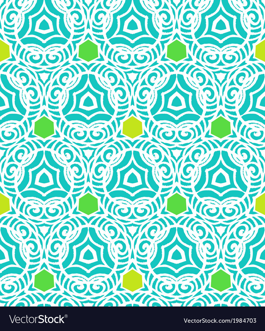 Pattern in tropical blue in hipster style vector | Price: 1 Credit (USD $1)